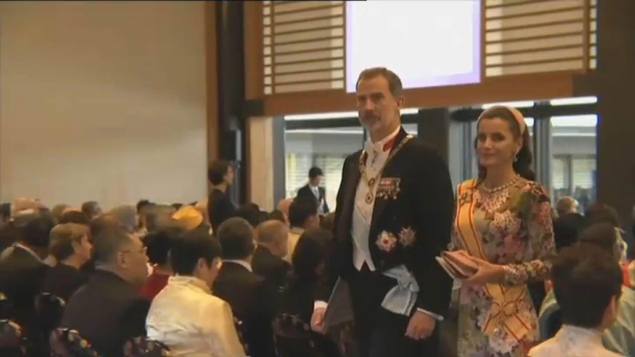 Leonor: «Llevo a Cataluña en el corazón».El rey Felipe VI (i), la princesa Leonor (d) sonríen durante su visita a Asiegu