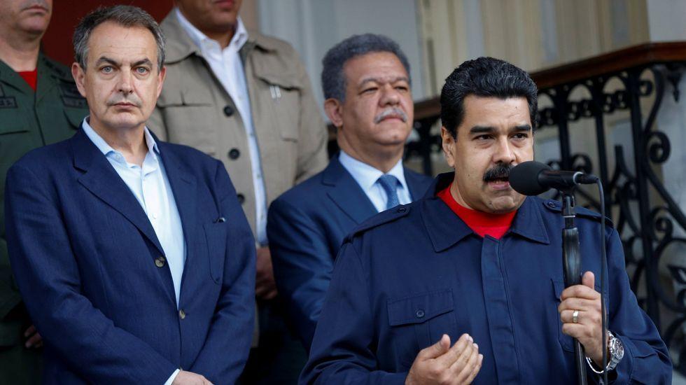 El expresidente Zapatero, a finales de julio en Venezuela con Maduro