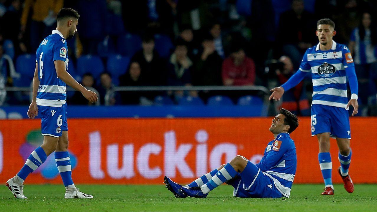 Javi Rozada durante el Real Oviedo-Sporting