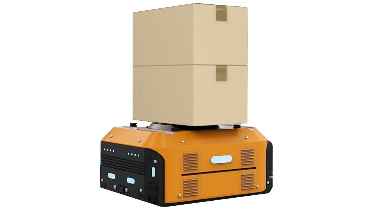Unidad AGV. Vehículo autónomo de carga para funciones logísticas