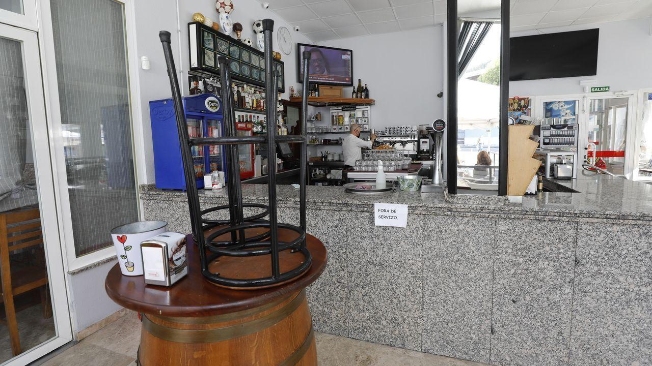 Los negocios hosteleros de Viveiro vuelven a tener restringida por completo la actividad en el interior