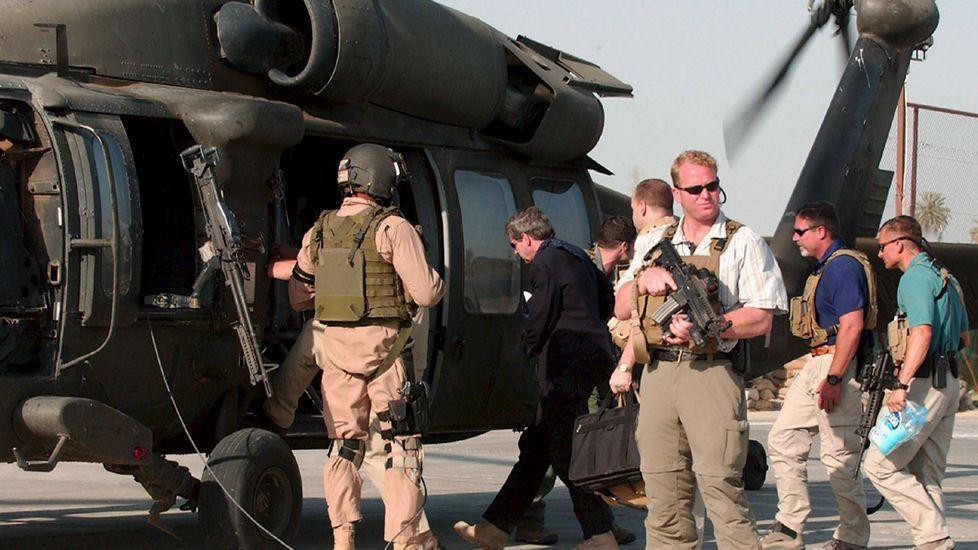 Militares de la unidad logística desplazados a la base de Herat, en Afganistán.