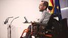 El portavoz parlamentario de Unidas Podemos, Pablo Echenique, interviene en una rueda de prensa en el Congreso de los Diputados