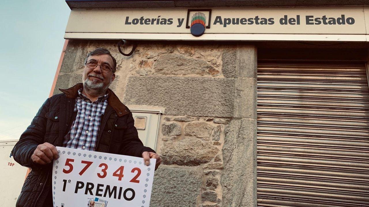 Los rostros de la suerte de la lotería del Niño en Galicia.Acto de presentación de la sexta convocatoria del concurso de ideas empresariales