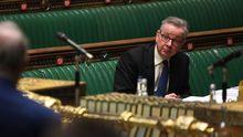 El ministro británico Michael Gove en el Parlamento