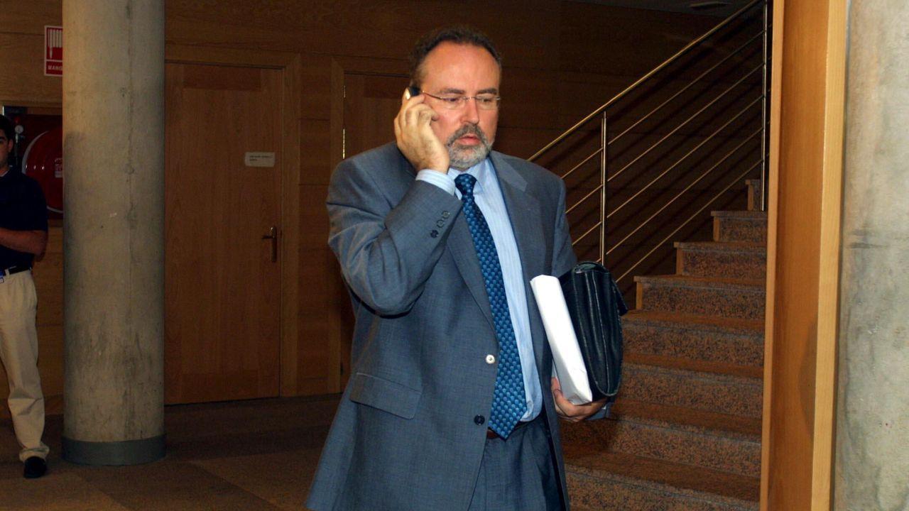 Eduardo Tamayo, en el año 2003, tras protagonizar el episodio de transfuguismo en la Comunidad de Madrid que facilitó el Gobierno a Esperanza Aguirre