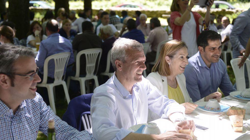 Comida campestre del PP de Silleda con Jose Luis Espiño, Alfonso Rueda y Ana Pastor