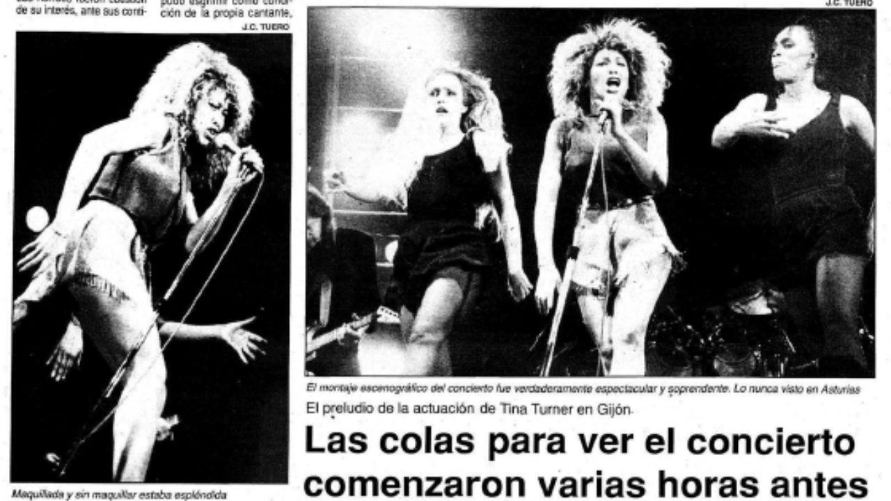 El concierto de Tina Turner en Gijón, en las páginas de la Hoja del Lunes