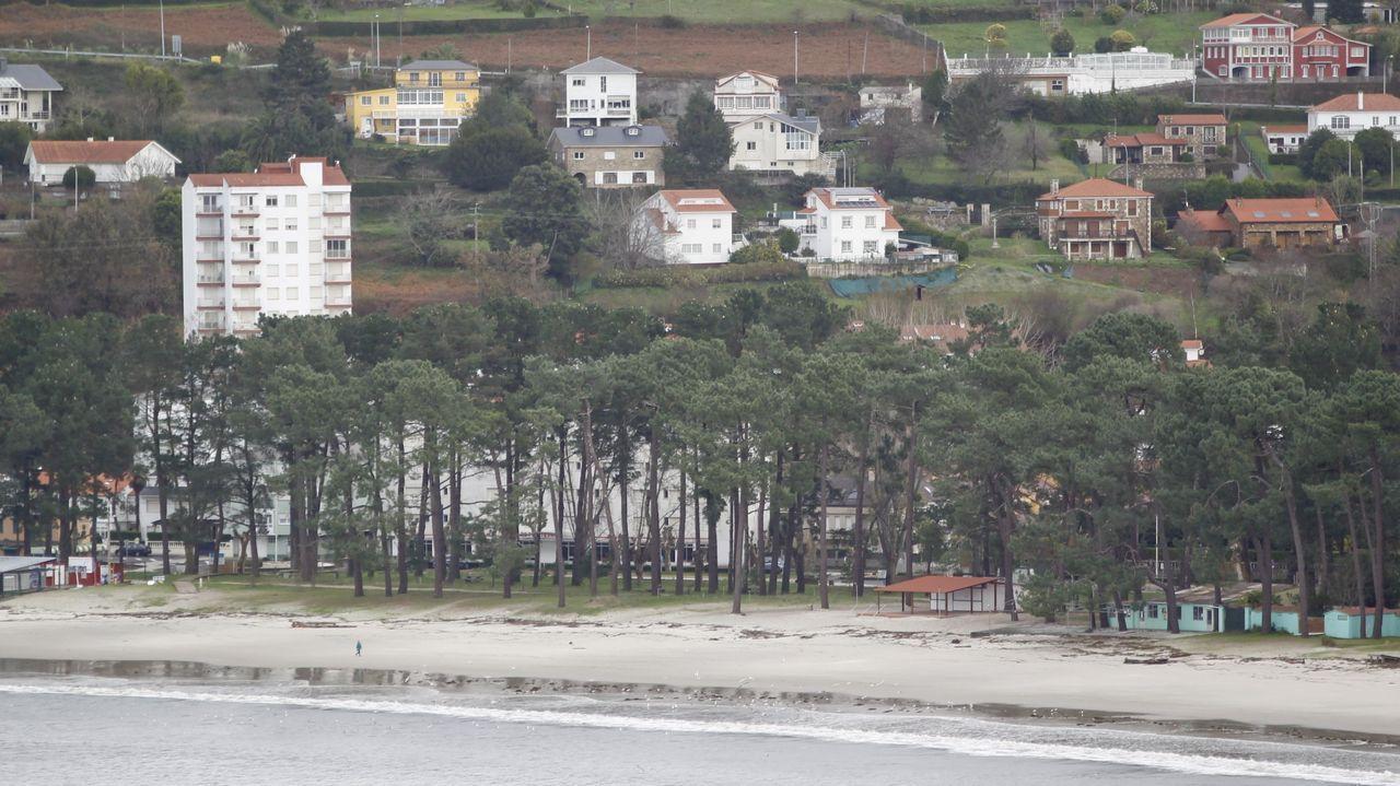 Áreas recreativas en la comarca de Ferrol.Playa de Cabanas