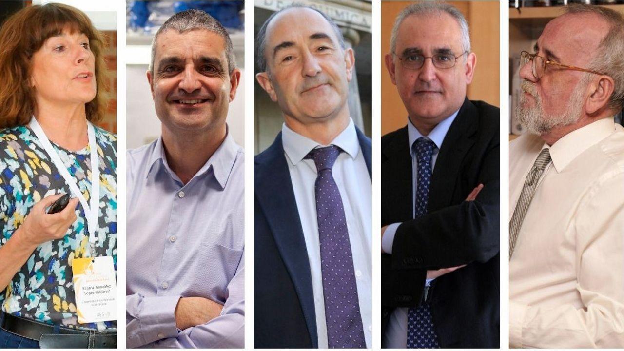 Los cinco nuevos académicos que ingresaron en la RAGC
