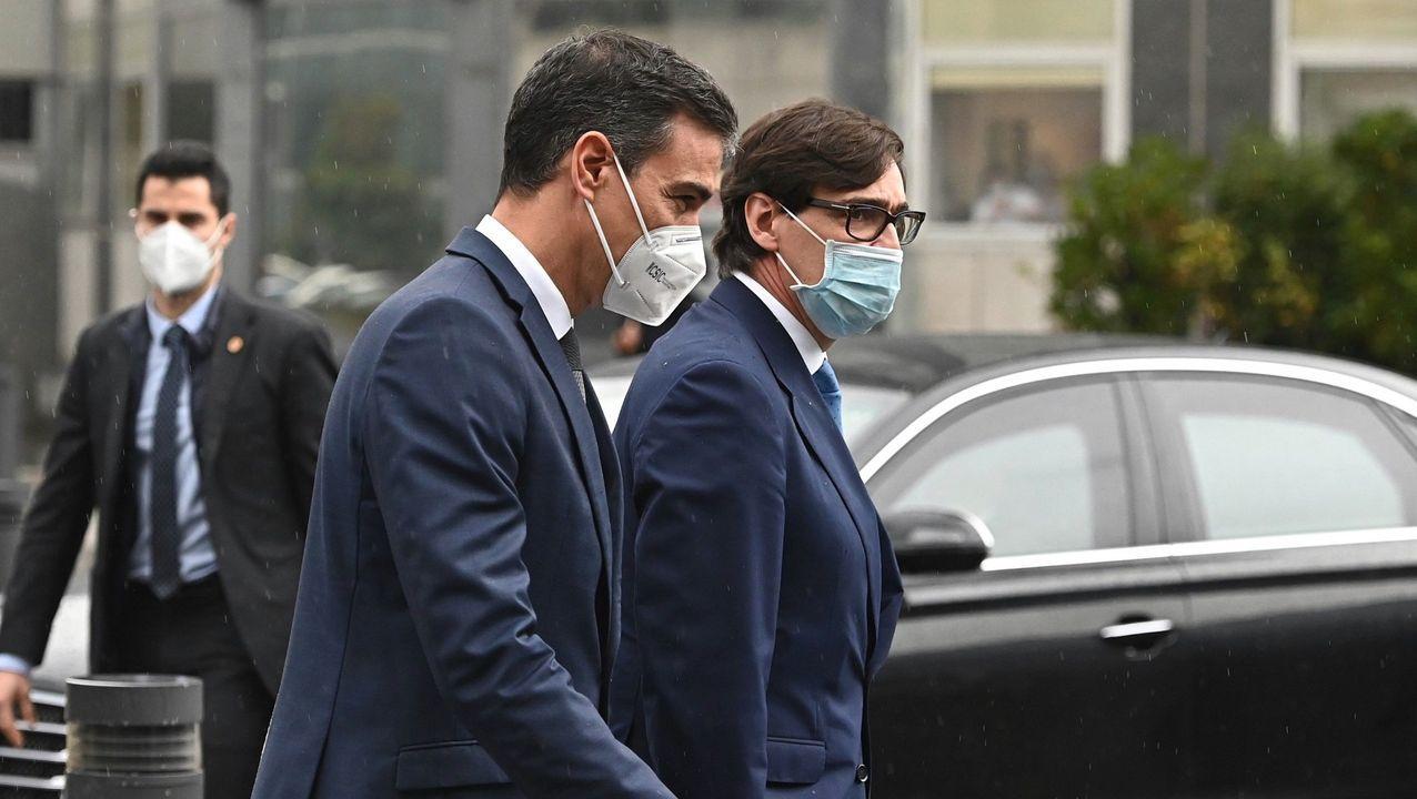 Sánchez, Illa y Darias visitan la Agencia Española del Medicamento.José María Vergeles es el consejero de Sanidad de Extremadura