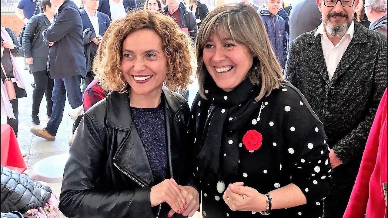 Meritxell Batet con Nuria Marín, nueva presidenta de la Diputación de Barcelona
