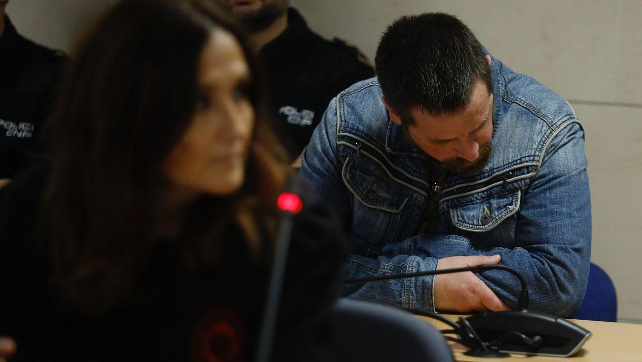 El temporal en Galicia.Vista del proceso, con jurado popular, del caso de Diana Quer