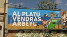 Valla republicana en Oviedo