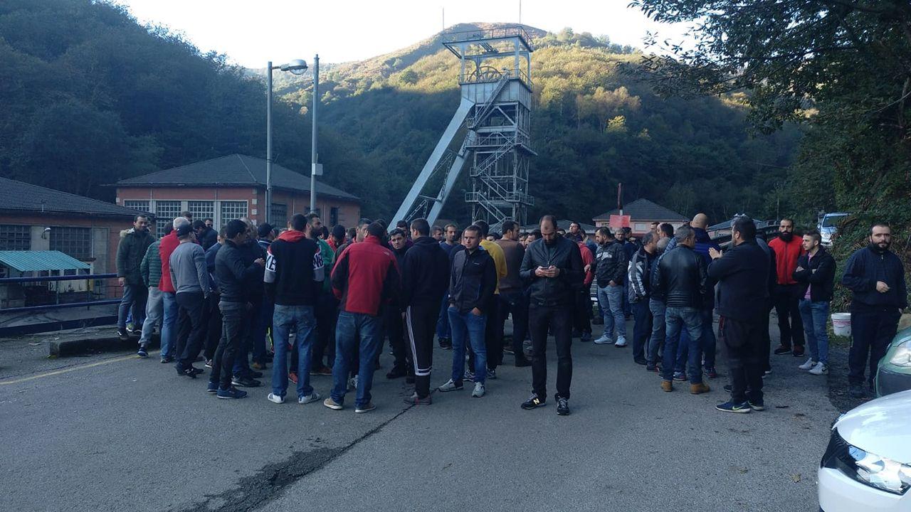 Concentración minera delante del pozo Nicolasa