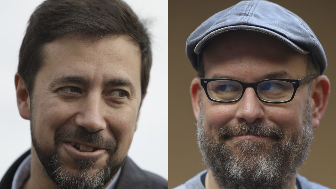 Antón Gómez-Reino, secretario xeral de Unidas Podemos, y Martiño Noriega, responsable de relaciones políticas de Anova