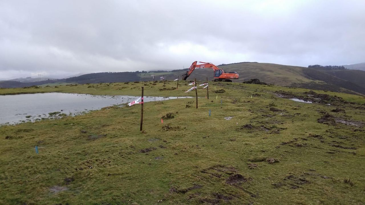 Obras de construcción del parque, en febrero del 2019