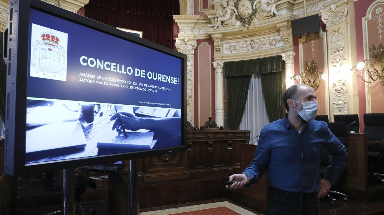 Gonzalo Pérez Jácome, alcalde de Ourense, en la rueda de prensa de este viernes