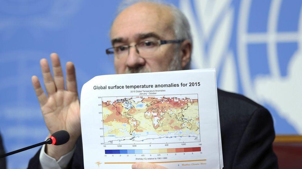 El secretario general de la Organización Meteorológica Mundial (OMM), este miércoles en Génova.