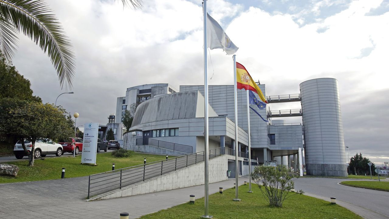 Exterior del hospital Montecelo, en Pontevedra
