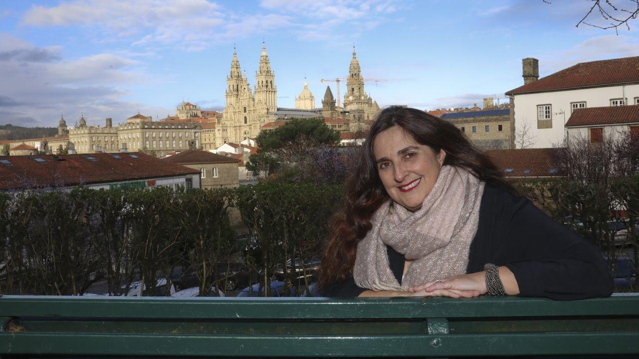 Portabales, no paseo da Ferradura, na Alameda, un dos seus recantos predilectos de Santiago