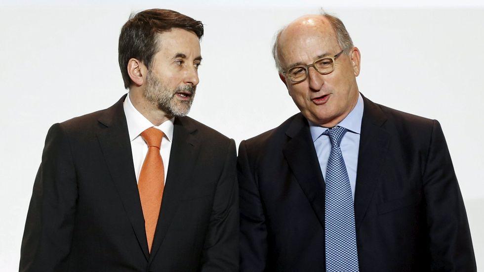 Reunión de los empresarios del Consejo de Competitividad en La Moncloa, en mayo del 2015