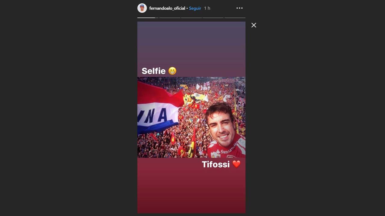 Captura de las Stories de Instagram de Fernando Alonso
