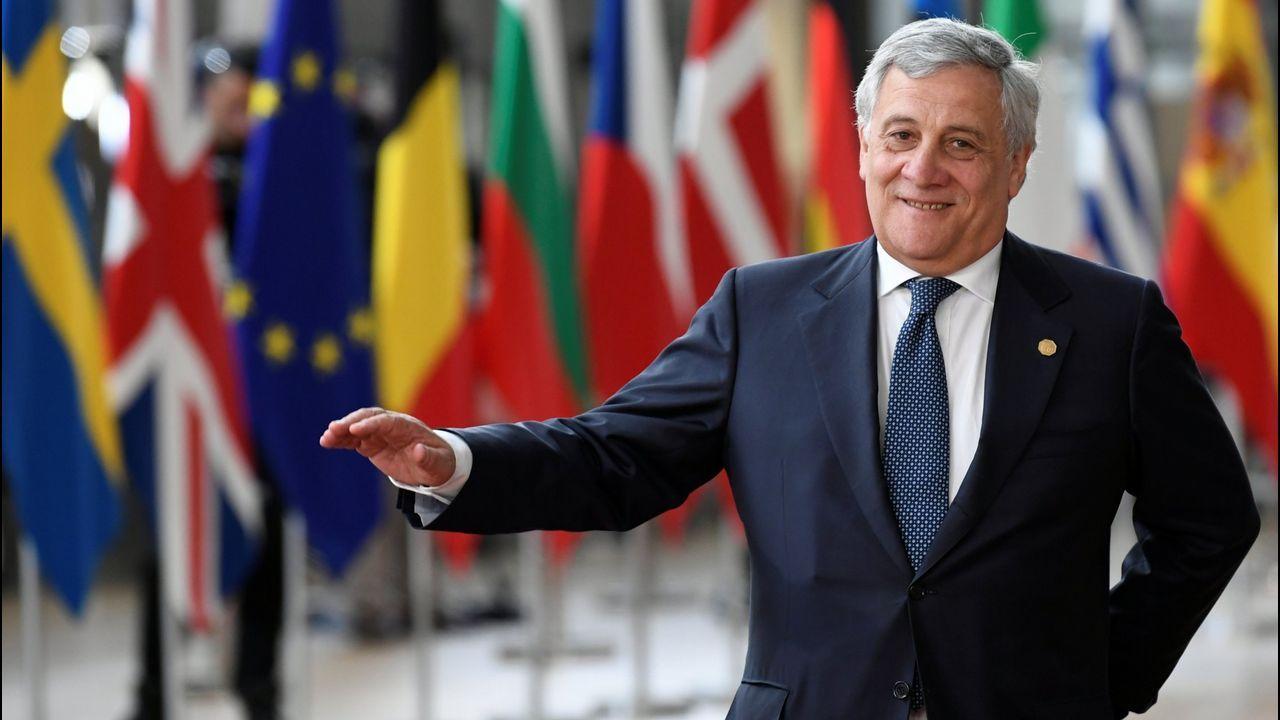 El italiano Antonio Tajani, presidente del Parlamento Europeo