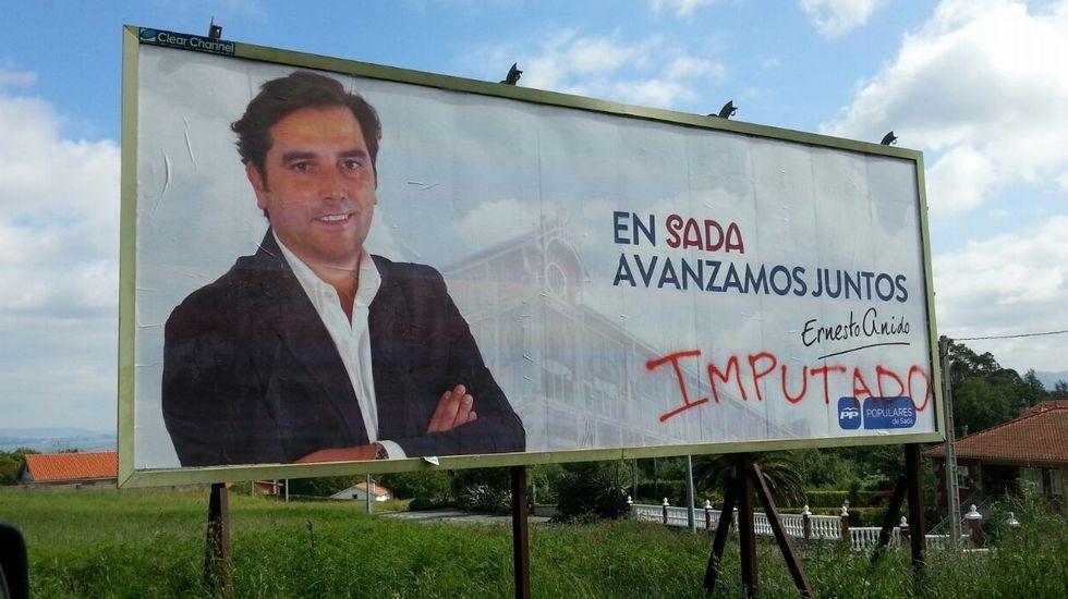 Vandalismo político contra Ernesto Anido. El PP de Sada ha denunciado los actos vandálicos que están sufriendo contra su publicidad electoral y documentos que han expuesto en su sede de campaña.