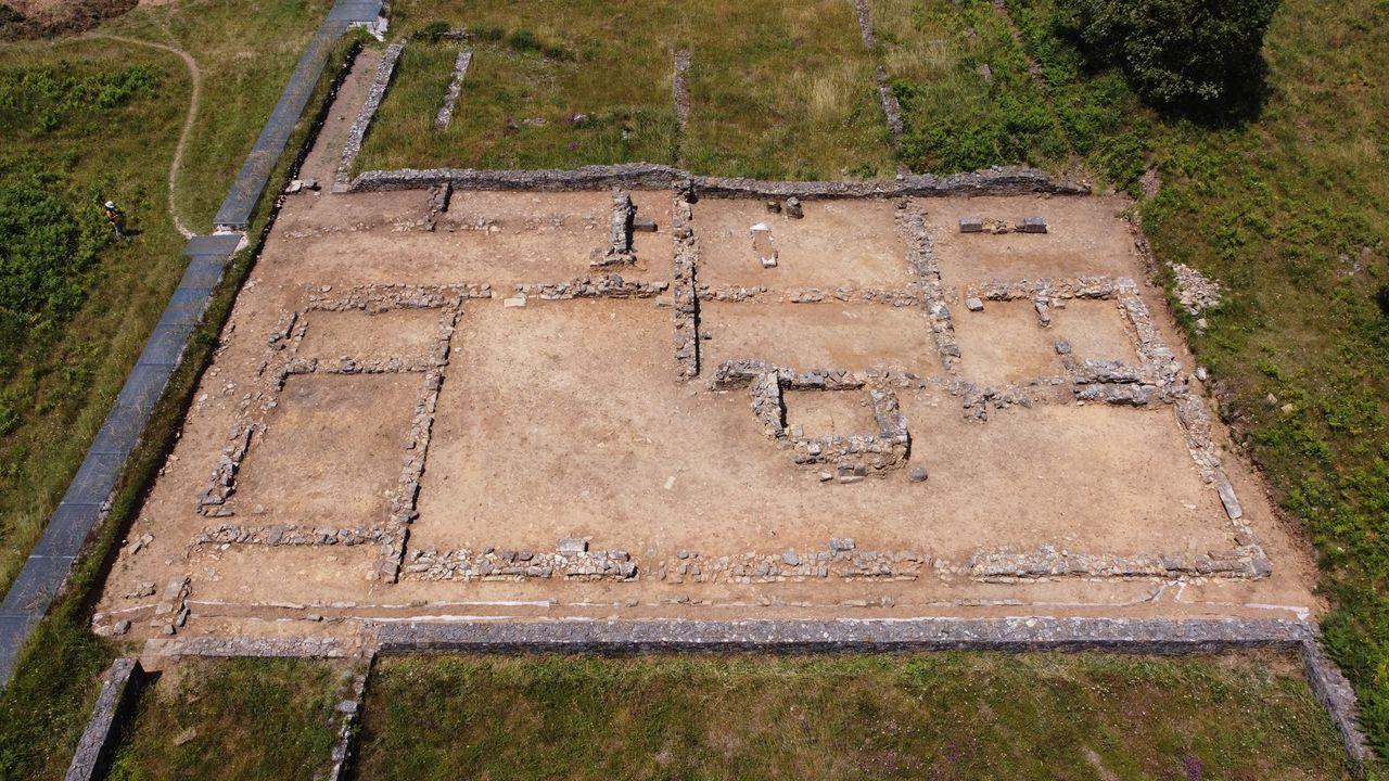 Petroglifos de Pé de Mula, en la parroquia de Sabaxáns, Mondariz