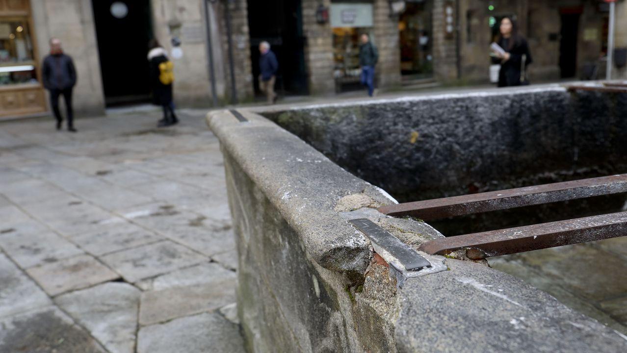 Daños graves en la fuente del Toural