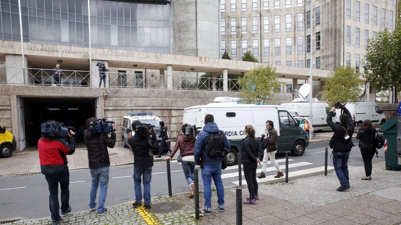 En una imagen de archivo, el edificio principal de los juzgados de Santiago, en el que se encuentra la sección sexta de la Audiencia Provincial