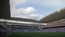 El Carlos Tartiere, antes del comienzo del Real Oviedo-Lugo 18/19