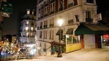 Las calles de París, vacías durante el toque de queda