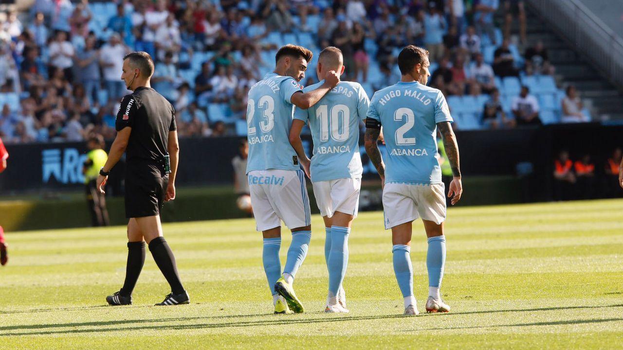 Costas:«Nolito nos daría un plus».Carlos Hernández y Christian Fernández se lamentan ante el Lugo