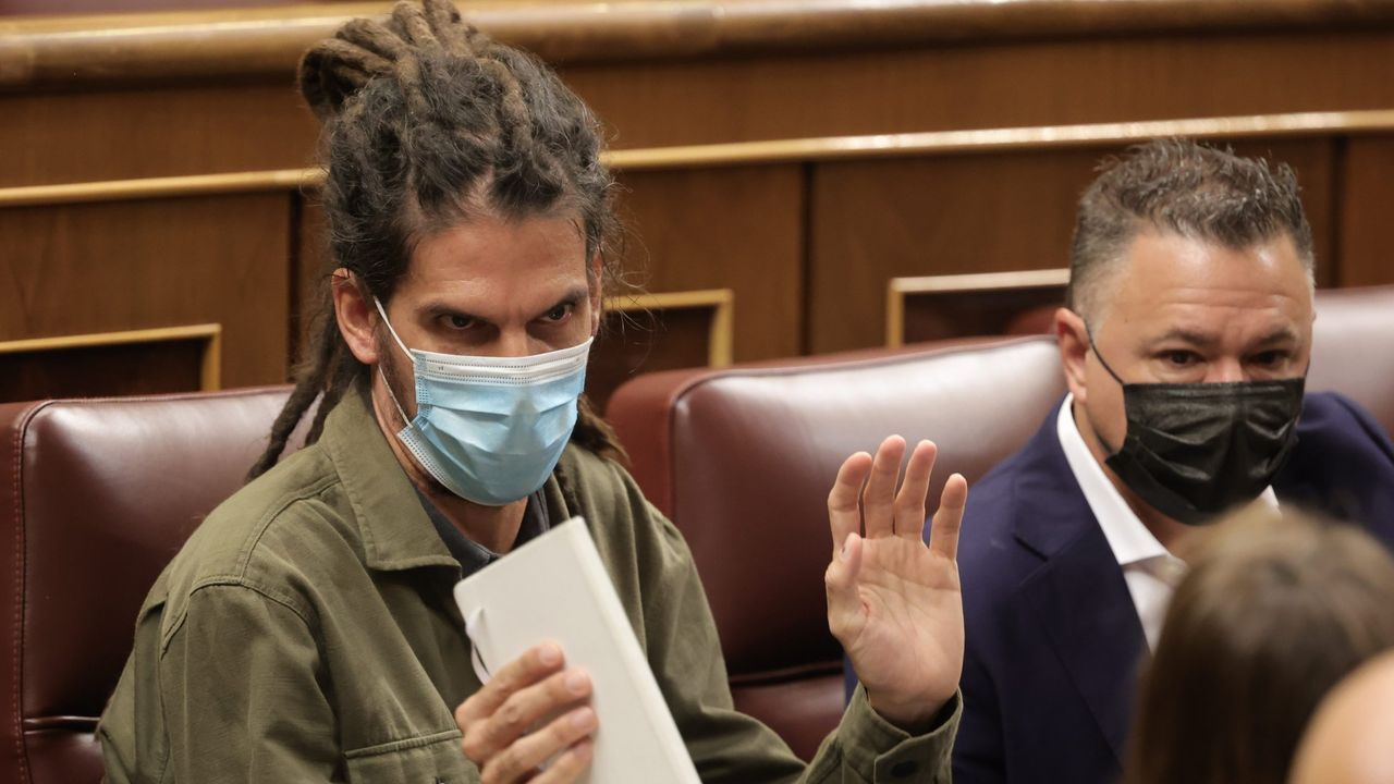 Alberto Rodríguez, en una sesión plenaria en el Congreso de los Diputados, el pasado día14 de octubre.