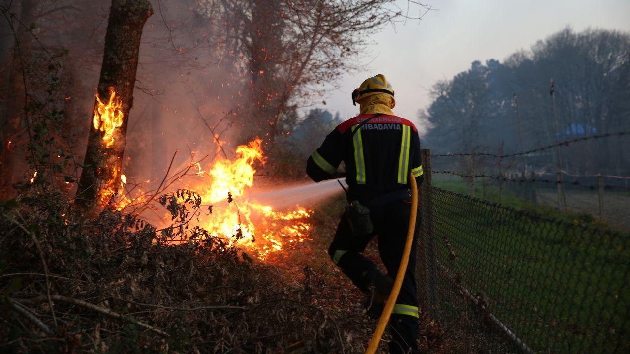 Imagen de un incendio en Asturias