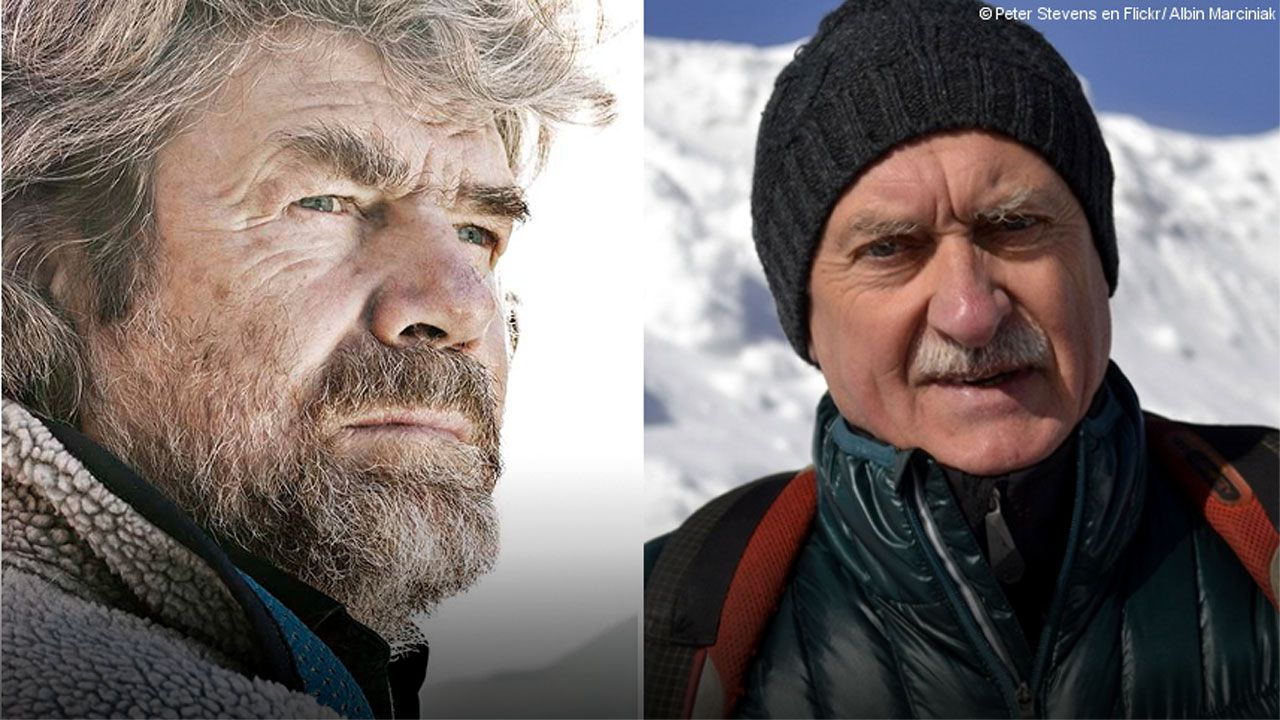 Reinhold Messner y Krzystof Wielicki