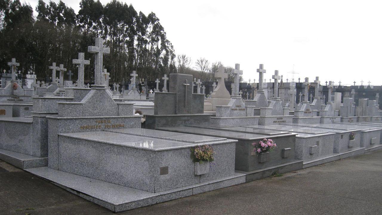 Vista del cementerio municipal de Vilalba