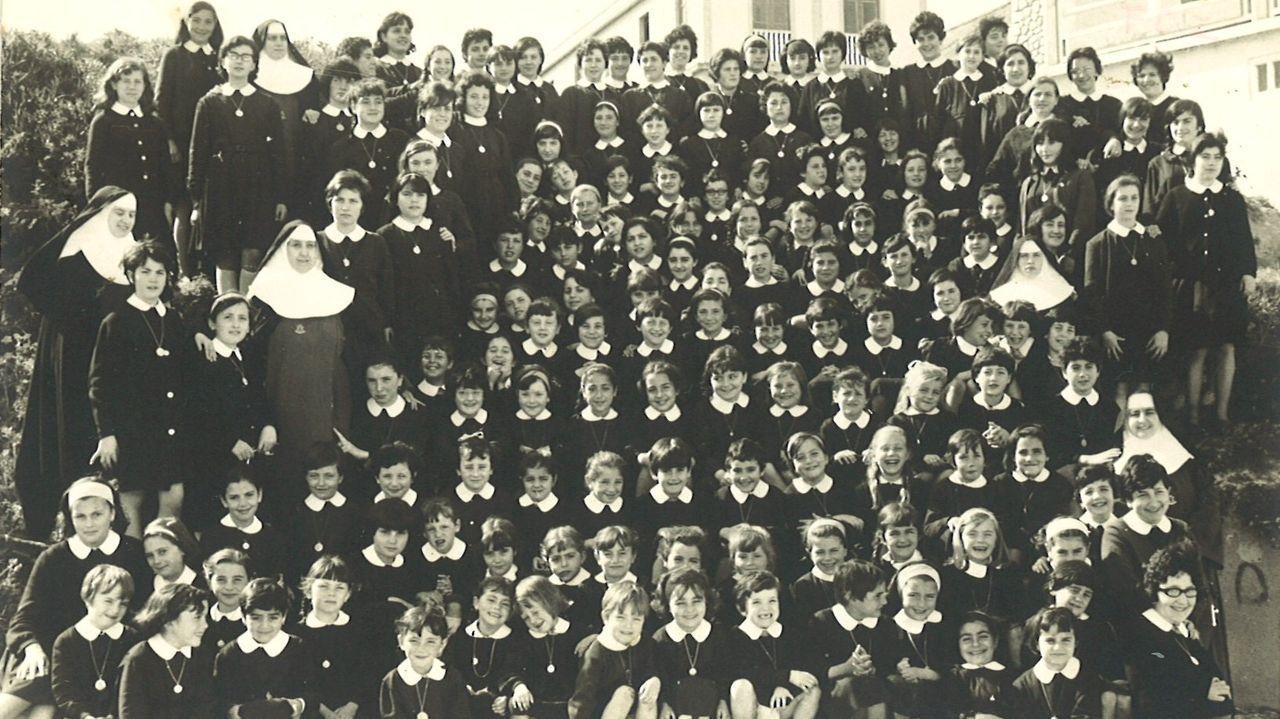 Las impresionantes instalaciones del Seminario Menor y de su colegio diocesano.Curso del año 1963 del Colexio Plurilingüe Nosa Señora do Pilar de Foz