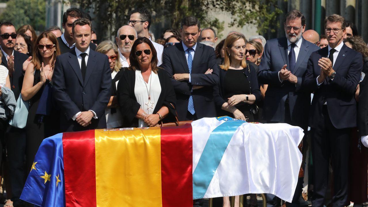 Funeral en la catedral del ex presidente de la Xunta, Xerardo Fernández Albor.Funeral por Gerardo Fernández Albor