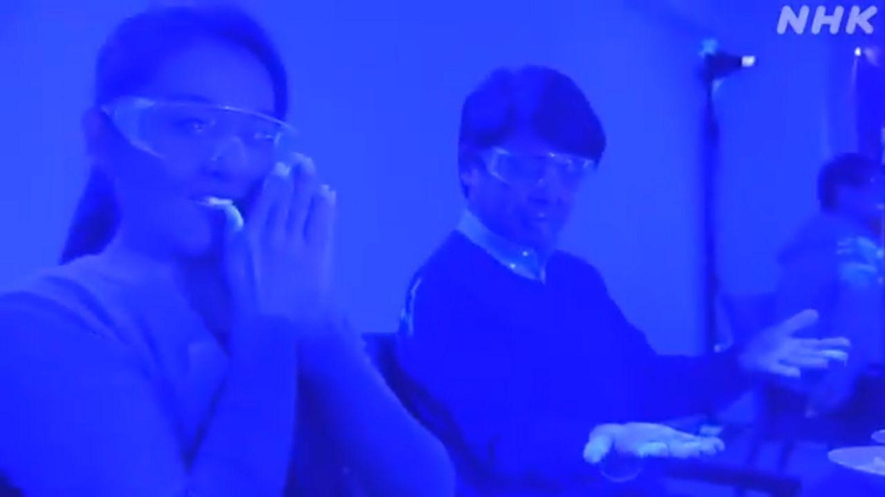 Fotograma del vídeo publicado por la televisión pública japonesa