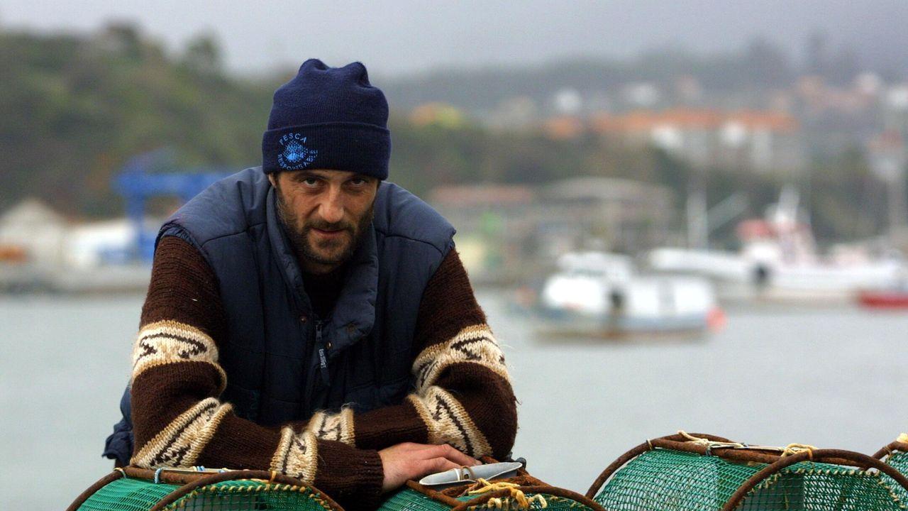 Agustín Pérez, en el puerto de Cedeira