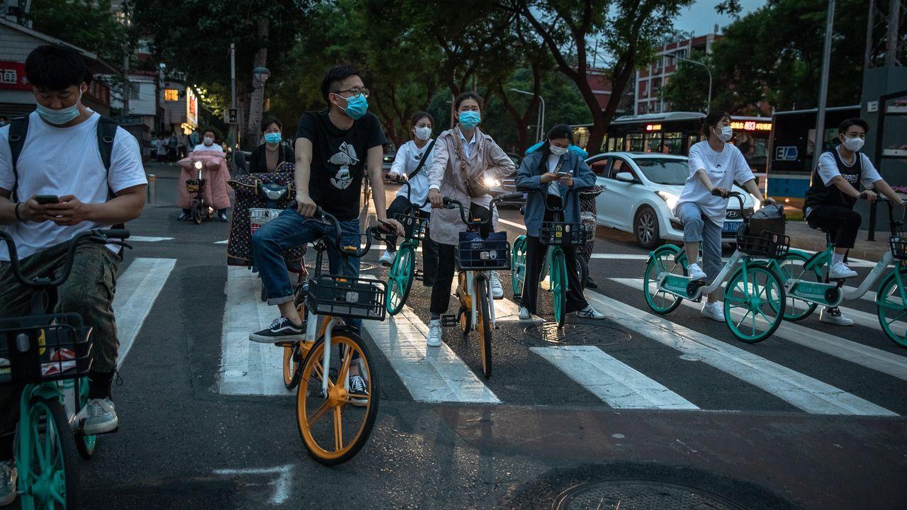 En China el uso de la mascarilla es generalizado