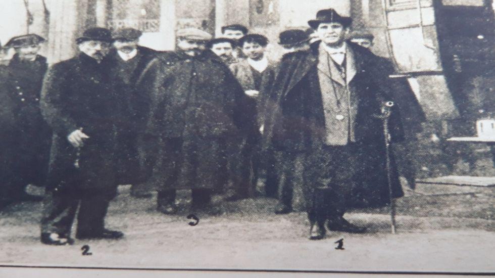 El gobernador civil visita Monforte el día de Nochebuena de 1909