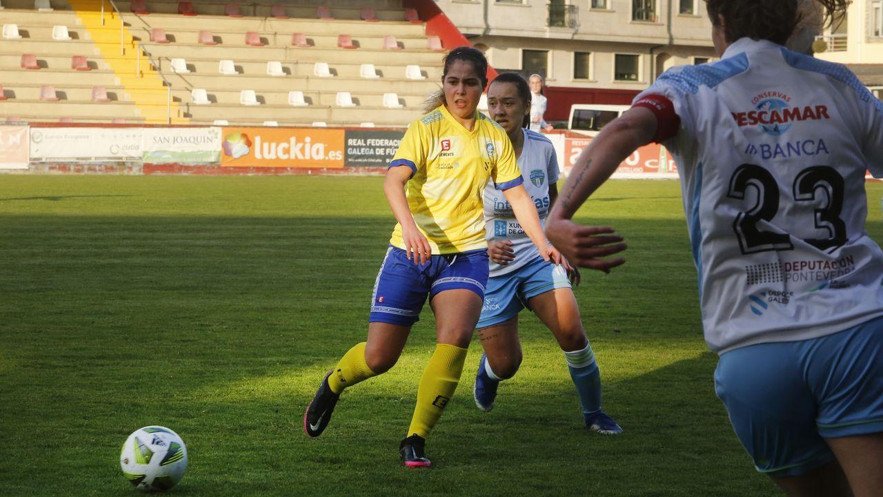 gol Real Oviedo Femenino Friol Tensi.Las futbolistas del Real Oviedo Femenino celebran un tanto