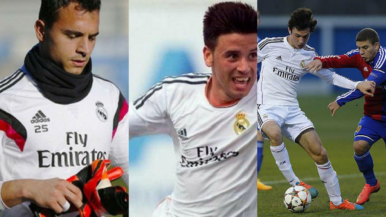 Alfonso, Javi Muñoz y Borja Sánchez en su etapa en el Madrid