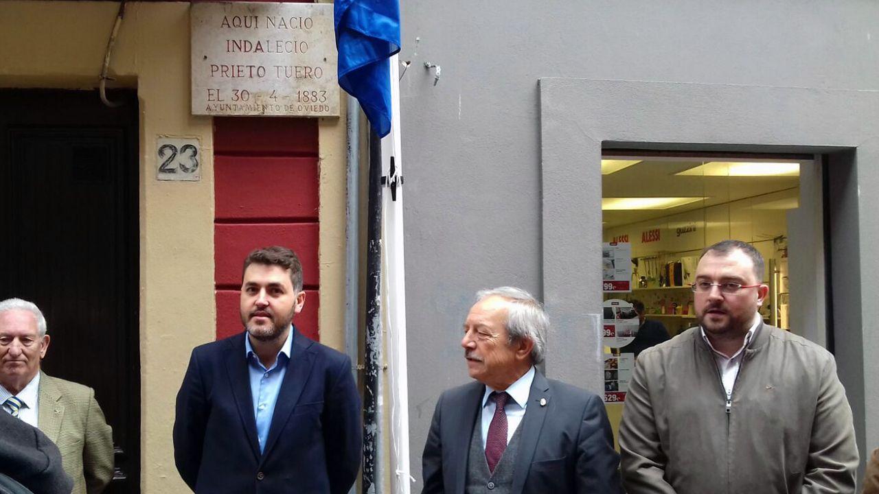 Ramón Argüelles.Jonás Fernández, Wenceslao López y Adrián Barbón