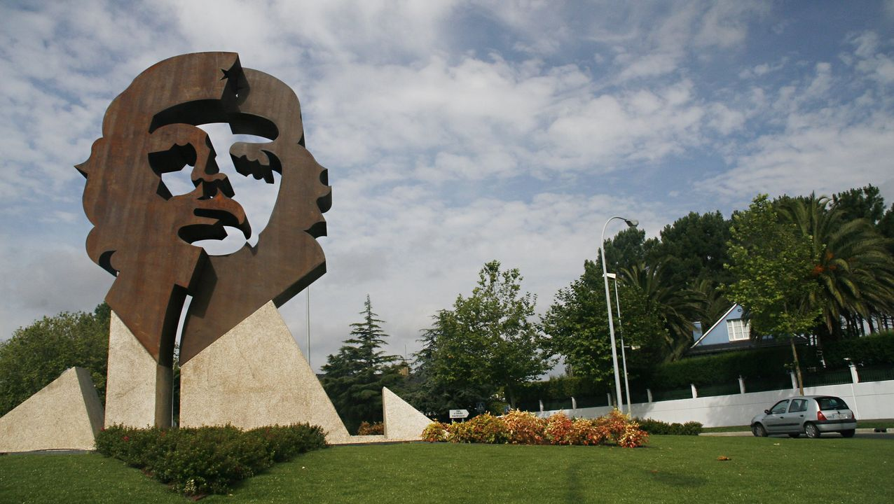 Monumento en memoria del Che Guevara, en Oleiros