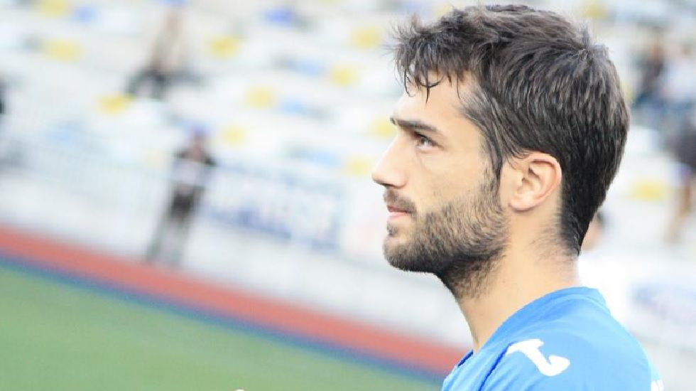 Aitor Sanz durante su etapa en Oviedo